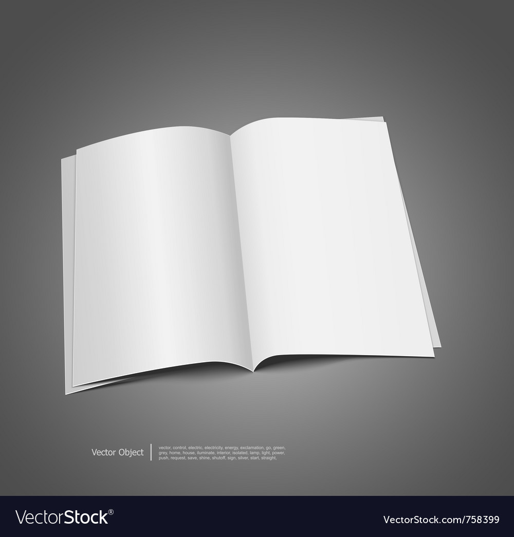 Magazine blank template vector | Price: 1 Credit (USD $1)