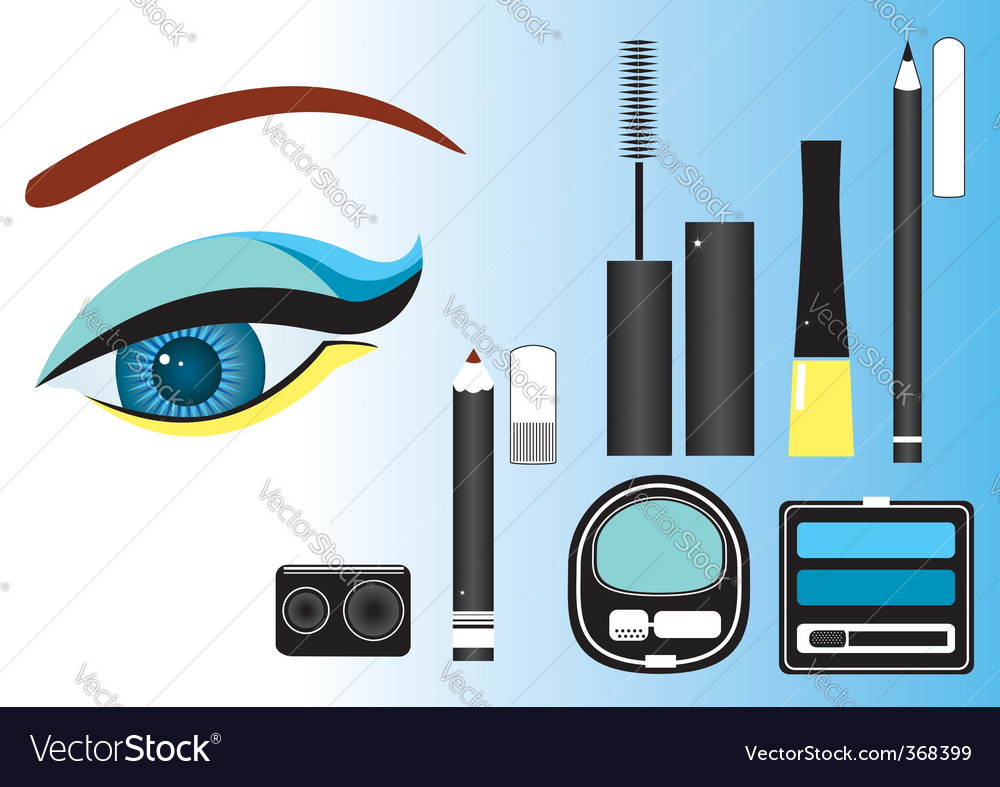 Make up eye vector | Price: 3 Credit (USD $3)
