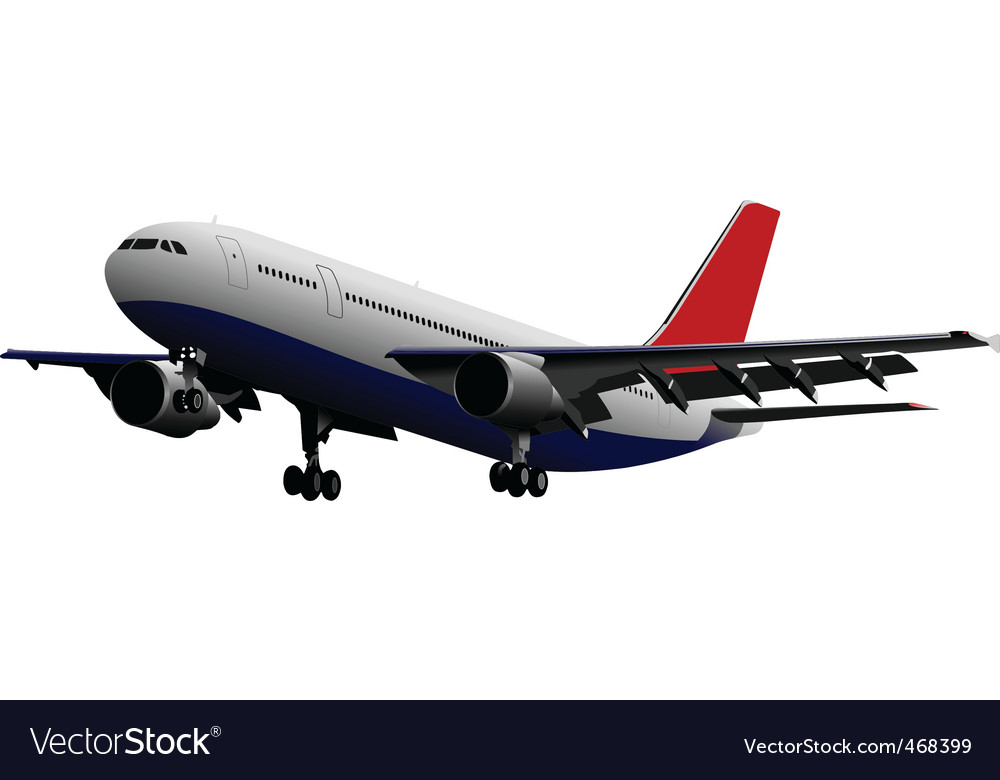 Passenger plane vector | Price: 1 Credit (USD $1)