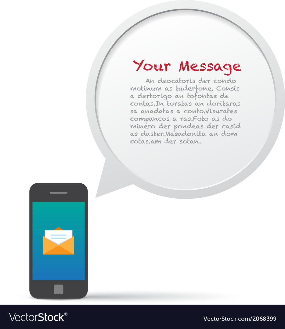 Smartphone and bubble talk message vector | Price: 1 Credit (USD $1)