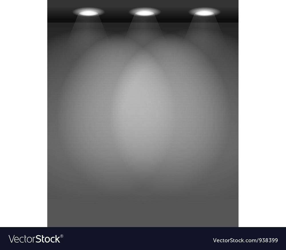 Spotlit wall vector | Price: 1 Credit (USD $1)