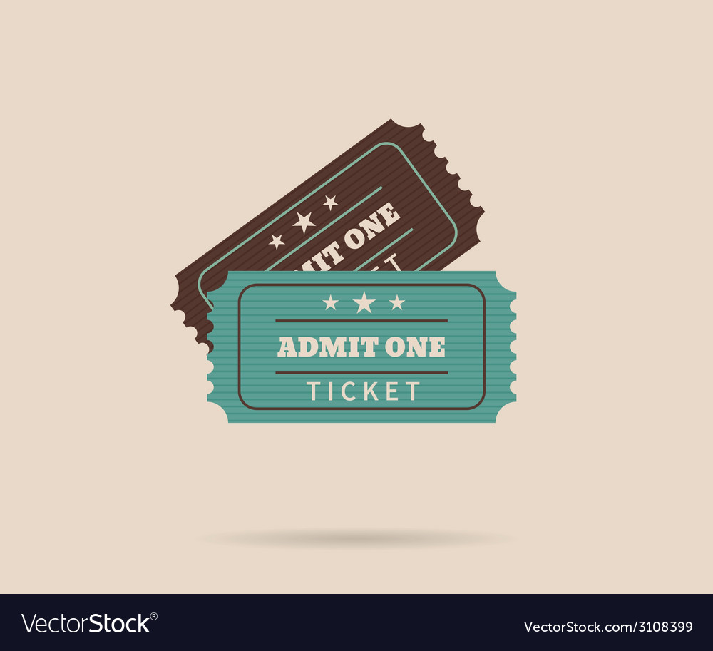 Two retro tickets vector | Price: 1 Credit (USD $1)