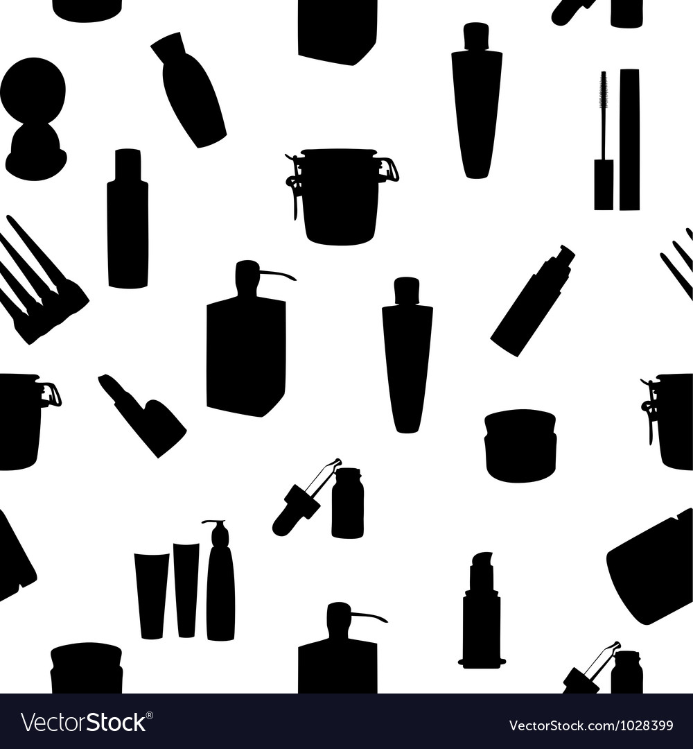 Wide range of cosmetic jars seamless pattern vector | Price: 1 Credit (USD $1)