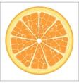 Orange slice vector