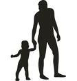 Family silhouette 04 vector