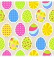Colorful easter egg seamless background vector