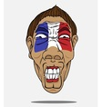 Football fan from france vector
