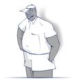 Cartoon boy smile vector