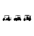 Golf car silhouettes vector