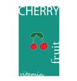 Cherry fruit color vector