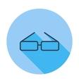 Glasses single icon vector