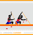 Athlete canoeing vector