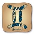 Zodiac sign - gemini doodle hand-drawn style vector