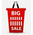 Big sale sign label template vector
