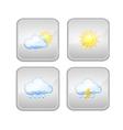 Set icon weather vector