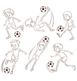 A simple sketch of the soccer players vector