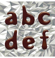 Chocolate alphabet letters vector