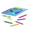 Pencil box vector