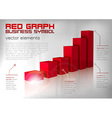 Graph red text vector