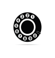 Old phone dialer icon vector
