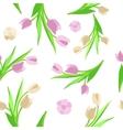 Pattern flower background green vector