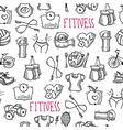 Fitness sketch black and white seamless pattern vector