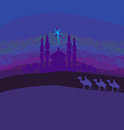 Classic three magic scene and shining star of vector