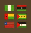 Flags of nigeria libya guinea-bissau sao tome vector