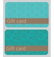 Abstract beautiful set of gift card design vector