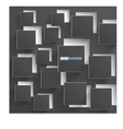 Abstract background square gray vector