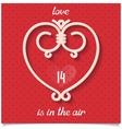 Love design card for 14 february vector