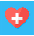 Medical heart flat stylized sign vector