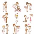 Wedding doodles - design elements vector