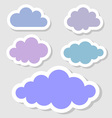 Set of paper clouds for your design vector