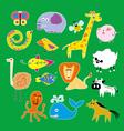 Set of zoo animals vector