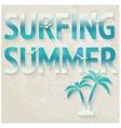 Surfing beach summer background vector