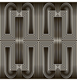 Seamless art deco pattern ornament vector