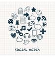 Social media icons in circle vector