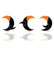 Parrot in black color three vector