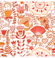 Floral endless pattern in pink ornate floral vector