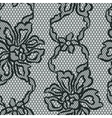 Old lace seamless pattern with ornamental flowers vector