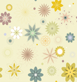 Abstract flowers a seamless pattern wallpaper vector