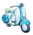 Watercolor vintage scooter vector