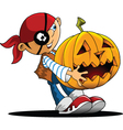 Halloween pirate boy vector