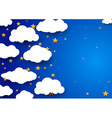 Night sky background - childish wallpaper vector