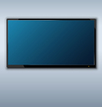 Tft tv hanging on the wall background vector