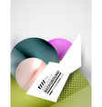 Abstract circles hi-tech futuristic background vector