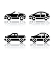 Set of transport icons - cars vector