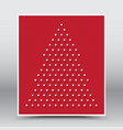 Happy christmas and happy new year red poster vector