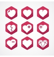 Set of love signs 9 hearts icons vector